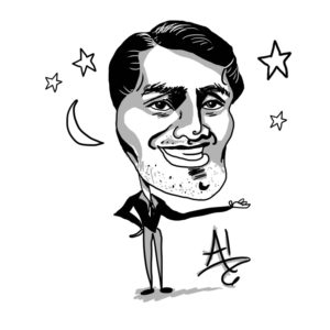 Caricature of Al Bowlly