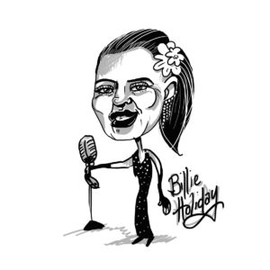 Caricature of Billie Holiday