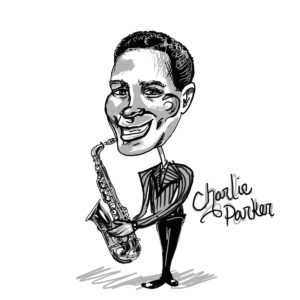 Caricature of Charlie Parker