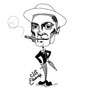 Caricature of Cliff Edwards