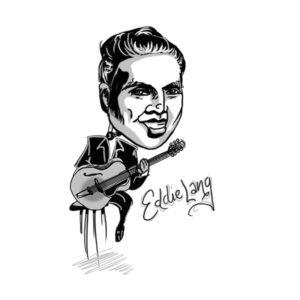 Caricature of Eddie Lang