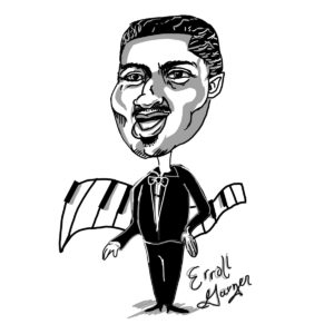 Caricature of Erroll Garner