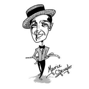 Caricature of Maurice Chevalier