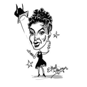 Caricature of Ethel Merman