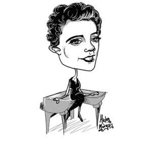 Caricature of Helen Morgan
