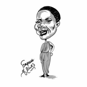 Caricature of Bessie Smith