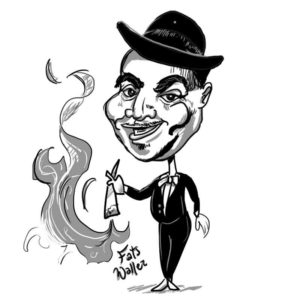 "Caricature of Thomas ""Fats Waller"""