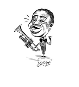 Caricature of Louis Armstrong